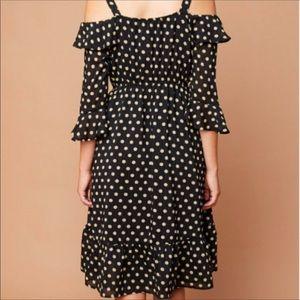 Pink Haley Dresses - Beautiful Classic Design Cold Shoulder Midi Dress